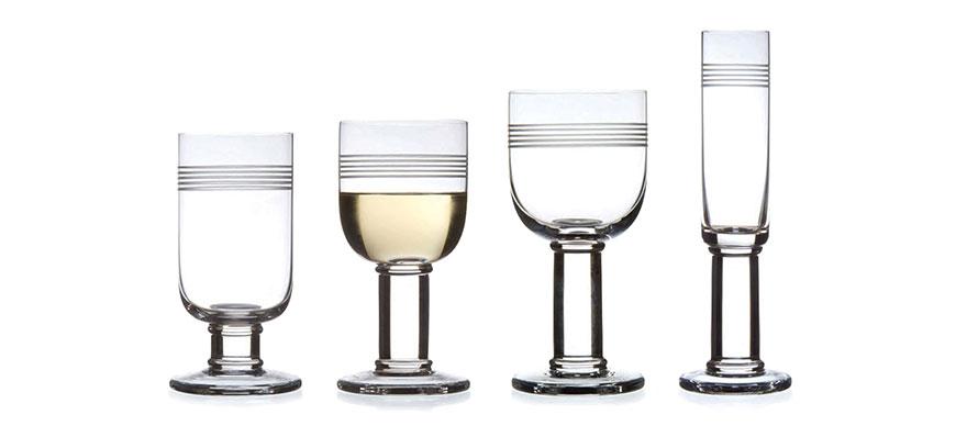 David Mellor Linear glassware