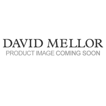 David Mellor grey leather round coaster 11cm